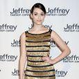 Emmy Rossum au défilé de charité Jeffrey Fashion Cares à New York, le 2 avril 2013.