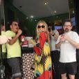 Fergie, enceinte, en vacances à Rio de Janeiro au Brésil, le 4 avril 2013.