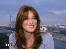 VIDEO : Carla Bruni,  juste magnifique chez Claire Chazal !