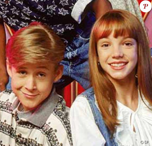 Ryan Gosling et Britney Spears (en bas), à l'époque de Mickey Mouse Club.