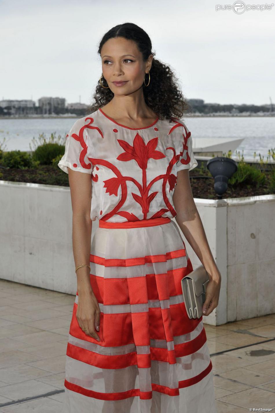 Thandie Newton à la 50e édition du MIP TV (Marché international des programmes de télévision), à Cannes le 8 avril 2013.