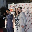 Eli Roth, Famke Janssen et Bill Skarsgard à la 50e édition du MIP TV (Marché international des programmes de télévision), à Cannes le 8 avril 2013.