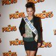 Miss France Marine Lorphelin pendant la première du film Les Profs au Grand Rex, Paris, le 9 avril 2013.