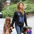 Jessica Alba et sa fille Honor à Los Angeles, le 13 Avril 2013