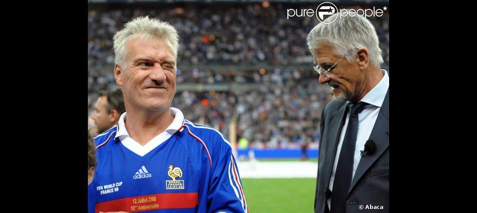Didier deschamps capitaine de l 39 quipe de france gagnante de la coupe du monde 1998 purepeople - Coupe du monde foot 1998 ...