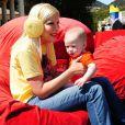 Tori Spelling à l'anniversaire de son fils Liam à Los Angeles, le 16 mars 2013.