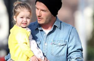 David Beckham : Tendres câlins avec sa fashion Harper avant de retrouver Paris