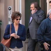 Gérard Depardieu et Jacqueline Bisset : En DSK et Anne Sinclair sur le tournage