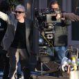 Le réalisateur Abel Ferrara sur le tournage du film inspiré de l'affaire DSK à New York le 25 avril 2013