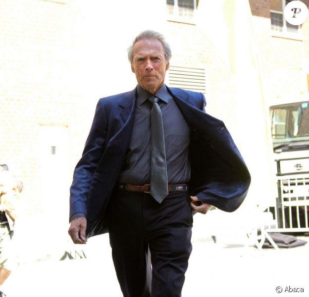 Clint Eastwood se promène dans le quartier de Tribeca à New York le 27 avril 2013