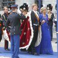 Prestation de serment du roi Willem-Alexander des Pays-Bas à la Nouvelle Eglise (Nieuwe Kerk) d'Amsterdam, le 30 avril 2013.
