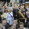 Le prince Charles et Camilla Parker Bowles lors de la prestation de serment du roi Willem-Alexander des Pays-Bas à la Nouvelle Eglise (Nieuwe Kerk) d'Amsterdam, le 30 avril 2013.
