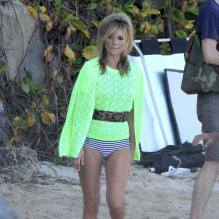 <p>Kate Moss sur le shooting du Vogue UK à Saint Barthélémy en décembre 2012</p> <p>Photo exclusive</p>
