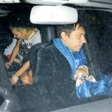 Kate Moss et Jamie Hince - People à l'anniversaire de Fran Cutlers au Box Club à Londres. Le 30 avril 2013