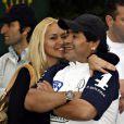 Diego Maradona et Veronica Ojeda à Buenos Aires le 8 décembre 2007