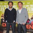 """Fabrice Eboué et Jean-Paul Rouve lors de l'avant-première du film """"Denis"""" à l'UGC les Halles à Paris le 29 avril 2013"""