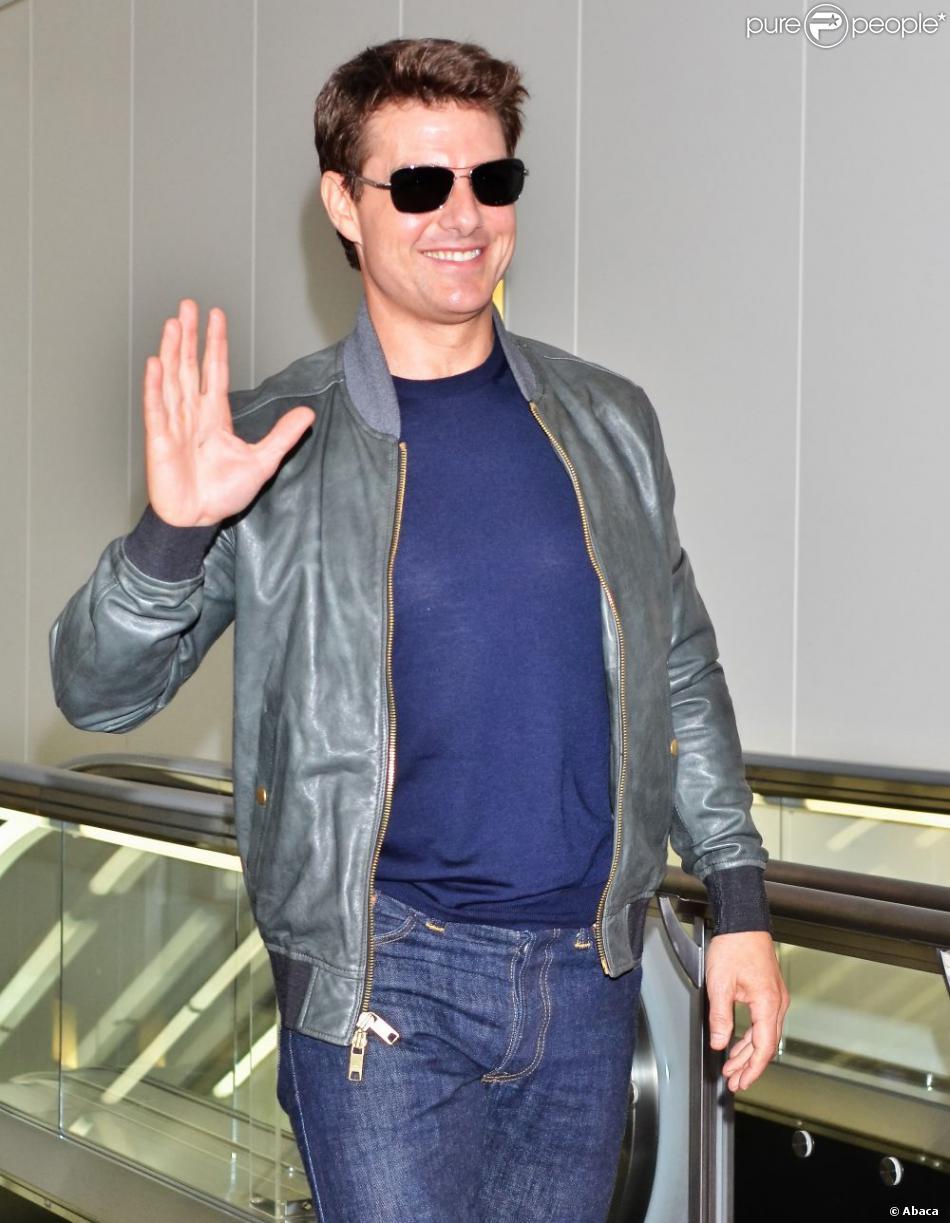 L'acteur Tom Cruise arrivant à l'aéroport de Tokyo le 6 mai 2013