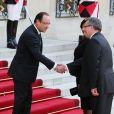 Francois Hollande et Bronislaw Komorowskilors d'un dîner d'Etat à l'Elysee, le 7 mai 2013.