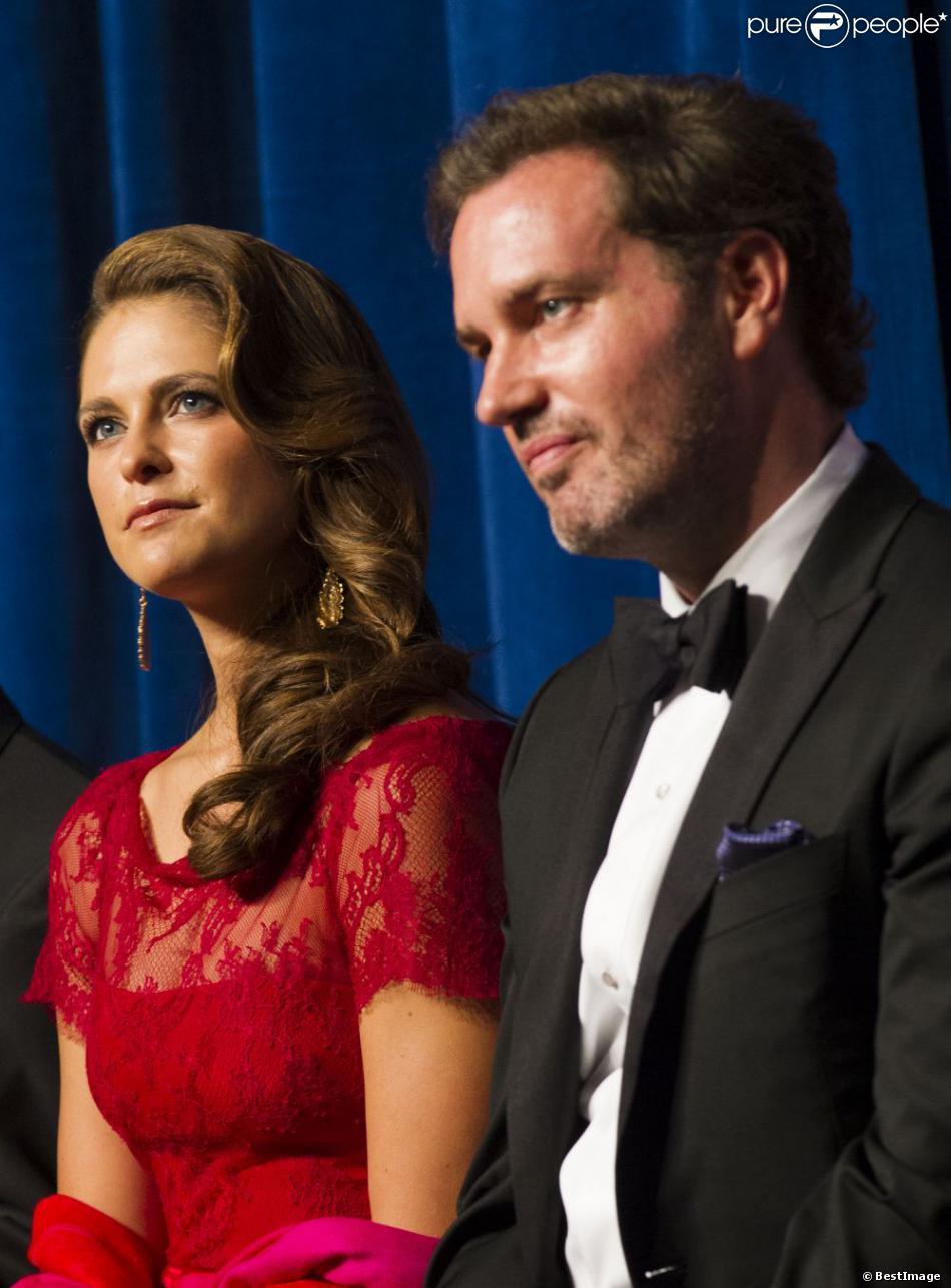 La Princesse Madeleine de Suède et Chris O'Neill lors du dîner de gala pour le 375e anniversaire de la fondation de la Nouvelle-Suède à Wilmington le 11 mai 2013.
