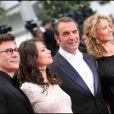 Michel Hazanavicius, Bérénice Bejo, Jean Dujardin et Alexandra Lamy au Festival de Cannes 2011.