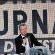 Michel Denisot recevait Vanessa Paradis sur le plateau du Grand Journal de Canal+ à Cannes le 15 mai 2013.
