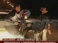Diego Maradona : Coup de pied, jet de pierres... Il craque face aux photographes