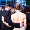 Jessica Biel et Justin Timberlake après la montée des marches du film Inside Llewyn Davis lors du 66e festival du film de Cannes, le 19 mai 2013.