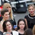 Jessica Biel et Kirsten Dunst lors de la montée des marches du film Inside Llewyn Davis lors du 66e festival du film de Cannes, le 19 mai 2013.