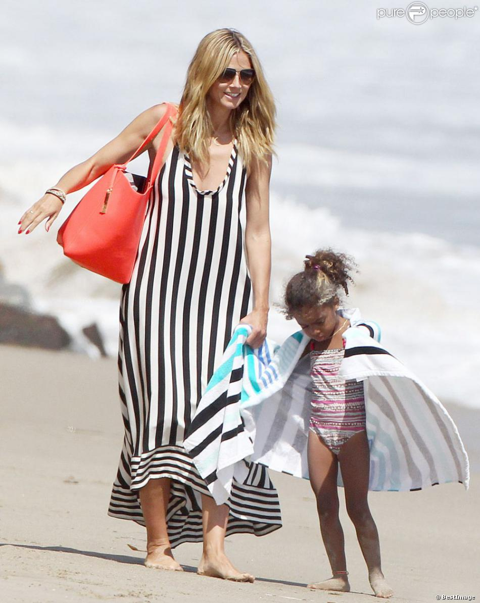Heidi Klum And Martin Kristen Beach Heidi Klum et s...