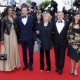 Karine Silla, Vincent Perez, Danièle Thompson, Daniel Auteuil et sa femme Aude Ambroggi lors du Festival de Cannes le 19 mai 2013