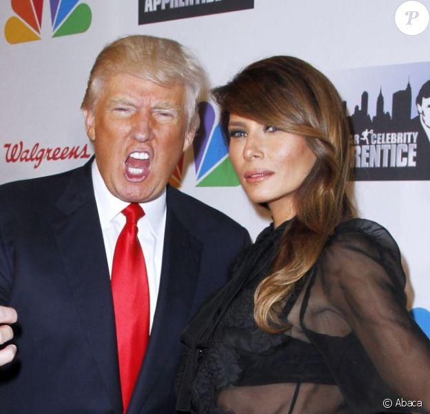 Donald Trump et sa femme Mélanie Trump à New York le 19 mai 2013.