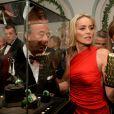 Fawaz Gruosi et Sharon Stone - Intérieur de la soirée De Grisogono à l'Eden Roc au Cap d'Antibes lors du 66e Festival du film de Cannes. Le 21 mai 2013.