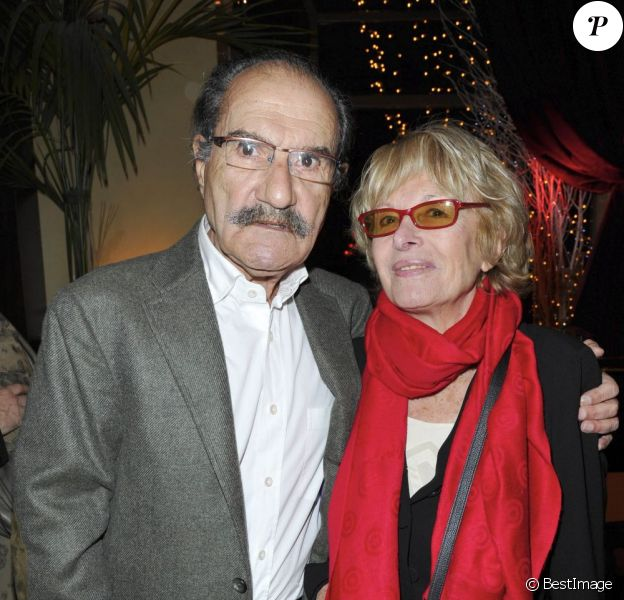 Gérard Hernandez et sa femme Micheline - Première édition du prix Grand Colbert au restaurant Le Grand Colbert à Paris, le 17 décembre 2012.
