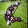 Roscoe, le chien de Lewis Hamilton, en vadrouille sur le golf de Monte Carlo