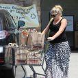 Busy Philipps, très enceinte, son mari Marc Silverstein et leur fille font du shopping à Hollywood, le 4 mai 2013.