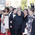 Stefi Celma, Kev Adams, Christian Clavier, Isabelle de Araujos, et Alice David lors de la montée des marches du 23 mai 2013 au Festival de Cannes