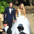 Excusif : Au mariage de l'acteur Aaron Paul et Lauren Parsekian au Cottage Pavilion à Malibu, le 26 mai 2013.