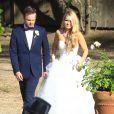 Exclusif - Mariage de l'acteur Aaron Paul et Lauren Parsekian au Cottage Pavilion à Malibu, le 26 mai 2013.