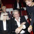 Mireille Darc, Alain Delon et Roselyne Bachelot le 18 septembre 2012 à Paris.