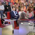 Michel Drucker, Clovis Cornillac, Nathalie Baye, Audrey Fleurot et Marilou Berry lors de l'enregistrement de l'émission de France 2 Vivement dimanche à Paris le 29 mai 2013