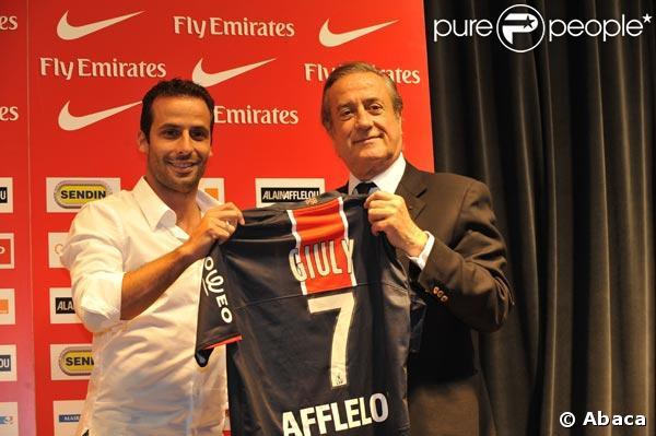 Ludovic Giuly, numéro 7 du PSG !