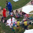 La chanteuse Pink a fêté l'anniversaire de sa fille Willow Sage (2 ans) lors d'une grande fête organisée chez elle à Los Angeles, le 2 juin 2013. La star avait invité, entre autres, Sandra Bullock et son fils Louis ainsi que Selma Blair et son fils Arthur.