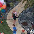 La chanteuse Pink a fêté l'anniversaire de sa fille Willow Sage (2 ans) lors d'une grande fête organisée à Malibu, le 2 juin 2013.