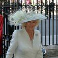 Camilla Parker Bowles au service en l'honneur des 60 ans du couronnement de la reine Elizabeth II, à l'abbaye de Westminster le 4 juin 2013.
