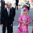 Le duc Edward et la duchesse Katherine de Kent au service en l'honneur des 60 ans du couronnement de la reine Elizabeth II, à l'abbaye de Westminster le 4 juin 2013.
