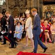 Kate Middleton, enceinte, après le service en l'honneur des 60 ans du couronnement de la reine Elizabeth II, à l'abbaye de Westminster le 4 juin 2013.