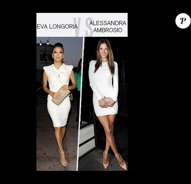 Eva Longoria vs Alessandre Ambrosio : Qui porte le mieux la robe blanche ?