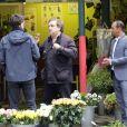 Exclusif - Les Inconnus Didier Bourdon et Pascal Légitimus sur le tournage des Trois frères,le retour (titre provisoire) à Paris le 30 mai 2013
