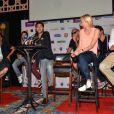 Michaël Youn, Jamel Debbouze, Audrey Lamy et Ary Abittan lors de la conférence de presse du festival Marrakech du rire à Marrakech, le 8 juin 2013.