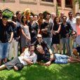 Jamel Debbouze et ses invités (Ary Abittan, Audrey Lamy, Michaël Youn, Franck Dubosc, Malik Bentalha, Jonathan Lambert, Djal, Kev Adams, Patrice Thibaud, William Stevens et Rachid Badouri) lors du festival Marrakech du rire à Marrakech, le 8 juin 2013.